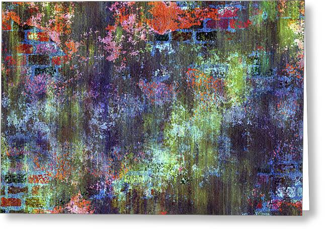 Decadent Urban Moss Colorful Wall Grunge Abstract Greeting Card
