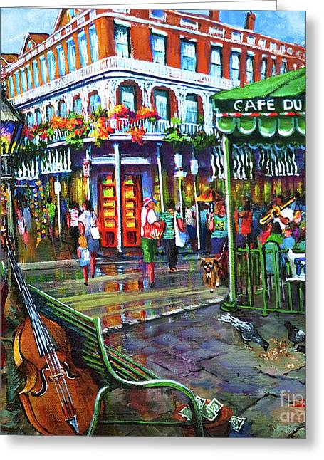 Decatur Street Greeting Card by Dianne Parks