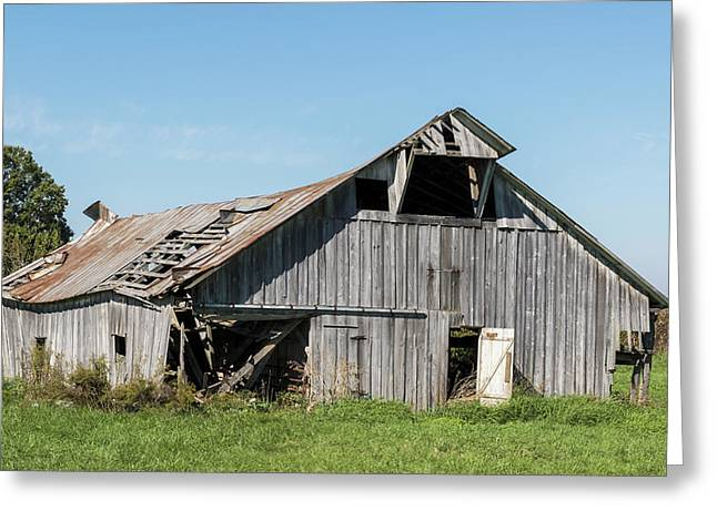 Decaying Barn Greeting Card by William Morris