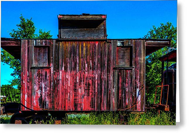 Decaying Caboose Greeting Card
