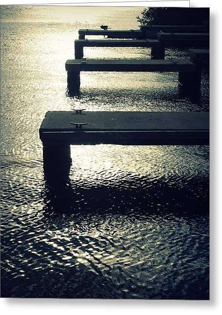 December Docks Greeting Card by Mandy Shupp