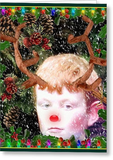 December Faun Greeting Card by Mindy Newman