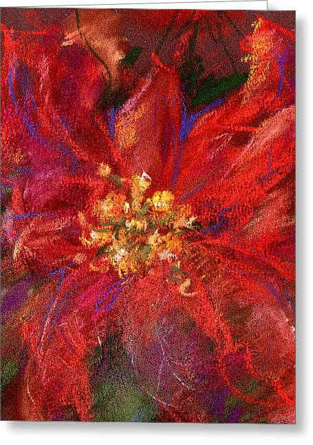 December Flower Greeting Card by Marilyn Barton