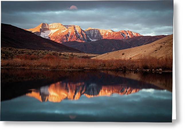 December Glow On Timp. Greeting Card