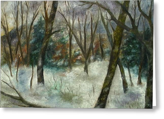 December On Cooper Hill Greeting Card