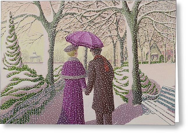 December Greeting Card by Peter Szumowski