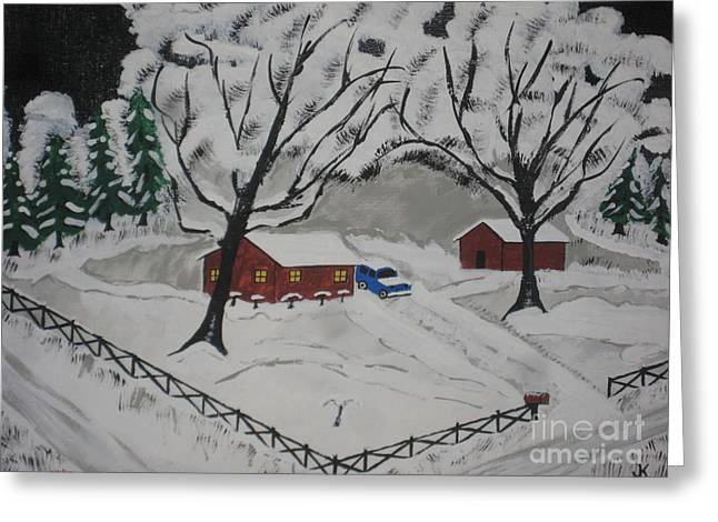 December Snow Greeting Card by Jeffrey Koss