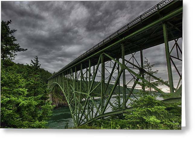 Deception Pass Bridge - Oak Harbor, Wa Greeting Card by Kevin Pate