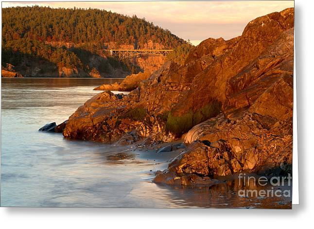 Deception Pass Landscape Greeting Card by Adam Jewell