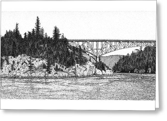 Deception Pass Greeting Card by Lorrisa Dussault