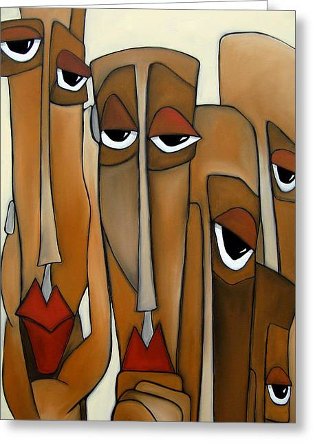Decision Makers - Abstract Pop Art By Fidostudio Greeting Card by Tom Fedro - Fidostudio
