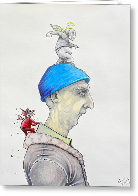 Decisions, Decisions Greeting Card by Chase Fleischman