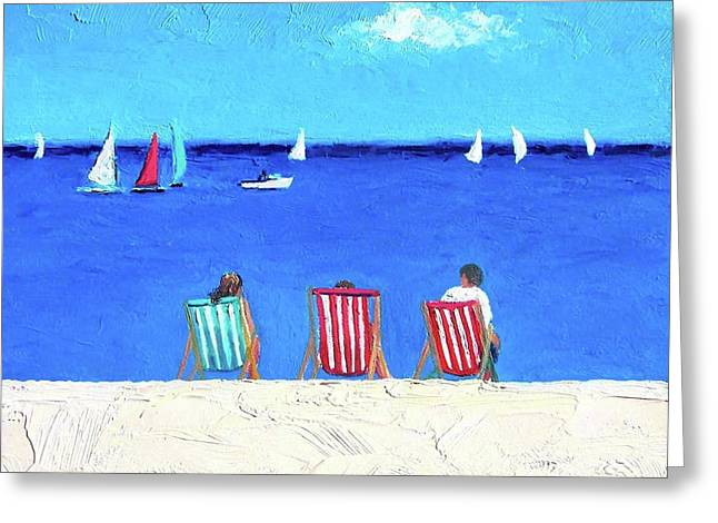 Deck Chair View Greeting Card by Jan Matson