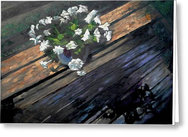 Deck Flowers #1 Greeting Card by Brian Kardell
