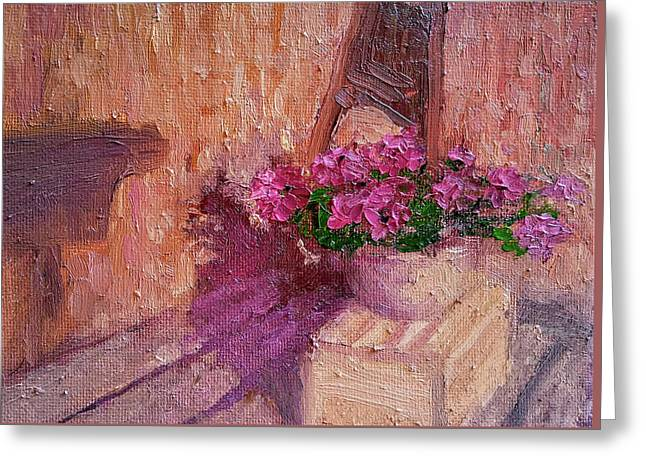 Deck Flowers #2 Greeting Card by Brian Kardell