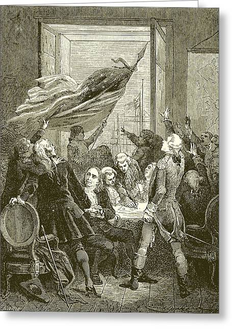 Declaration Of The Independence Of The United States Greeting Card by American School
