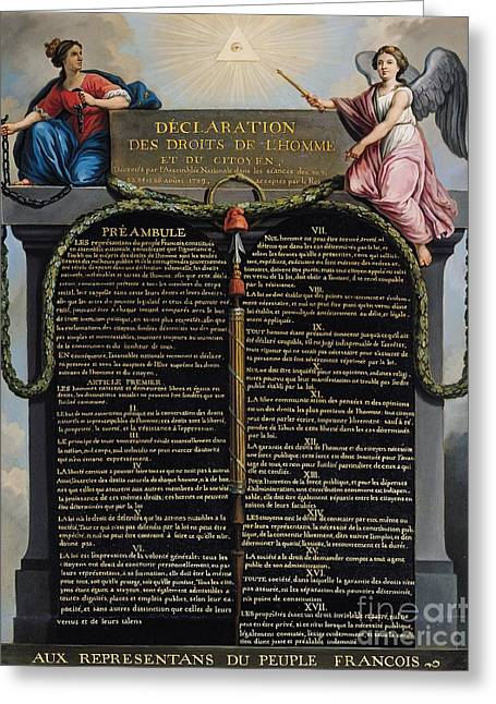 Declaration Of The Rights Of Man And Citizen Greeting Card