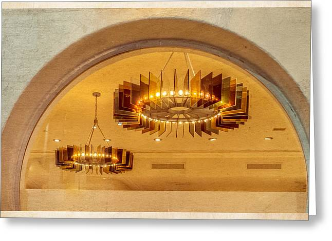 Greeting Card featuring the photograph Deco Arches by Melinda Ledsome