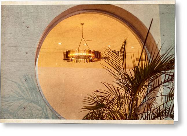 Greeting Card featuring the photograph Deco Circles by Melinda Ledsome
