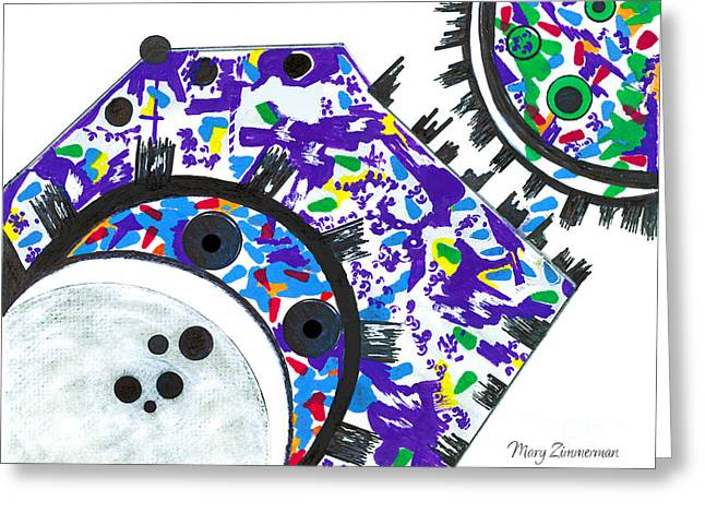 Deco Cogs Greeting Card