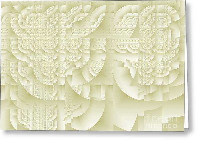Greeting Card featuring the digital art Deco Relief by Richard Ortolano