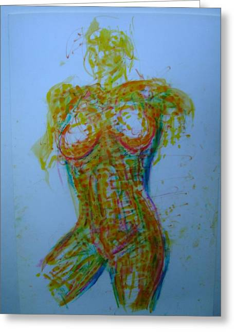 Decolletage Greeting Card by Dean Corbin