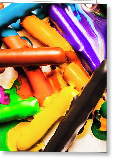 Deconstructing The Colour Wheel Greeting Card by Jorgo Photography - Wall Art Gallery