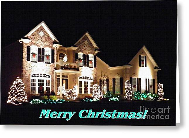Decorated For Christmas Card 1 Greeting Card by Sarah Loft