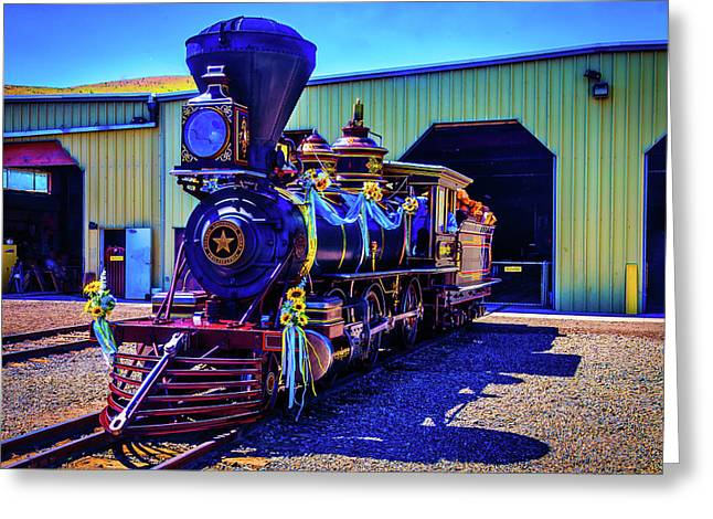 Decorated Glenbrook Locomotive Greeting Card