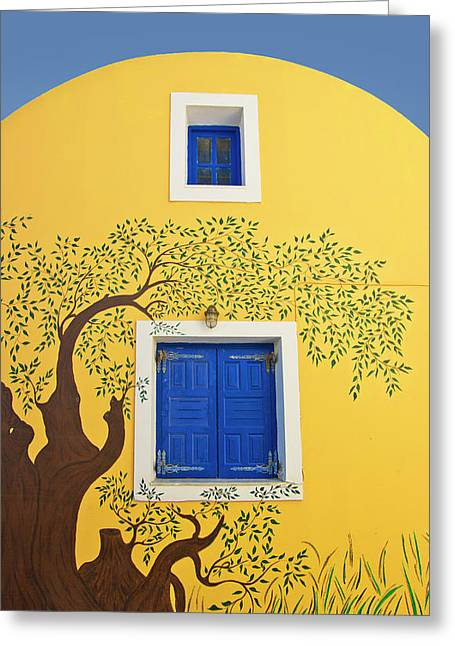 Decorated House Greeting Card by Meirion Matthias