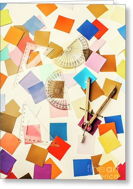 Decoration In Symmetry Greeting Card