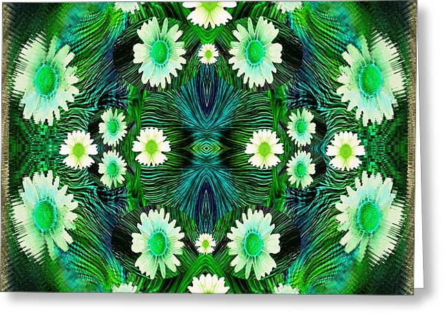 Decorative Abstract Meadow Greeting Card by Pepita Selles