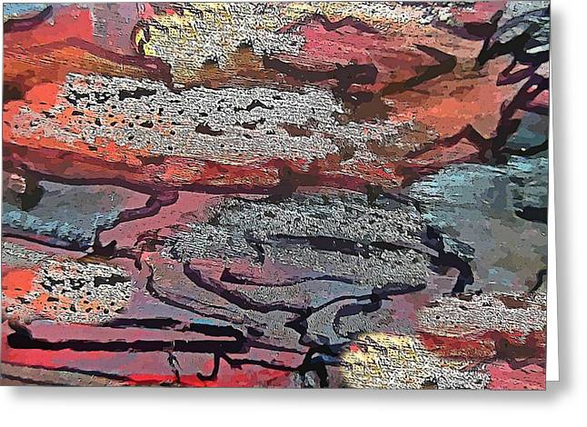 Decorative Abstract Wall Art Greeting Card