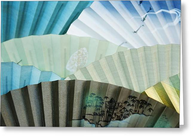 Decorative Fans Kyoto, Japan Greeting Card by Keith Levit