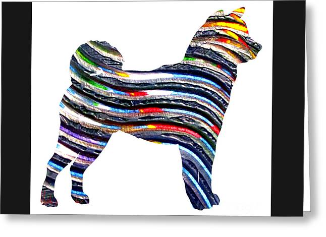 Decorative Husky Abstract O1015b Greeting Card