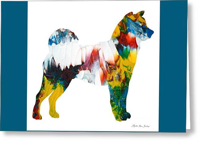 Decorative Husky Abstract O1015m Greeting Card