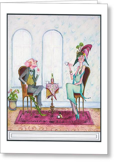 Decorum Greeting Card by Melinda Gay