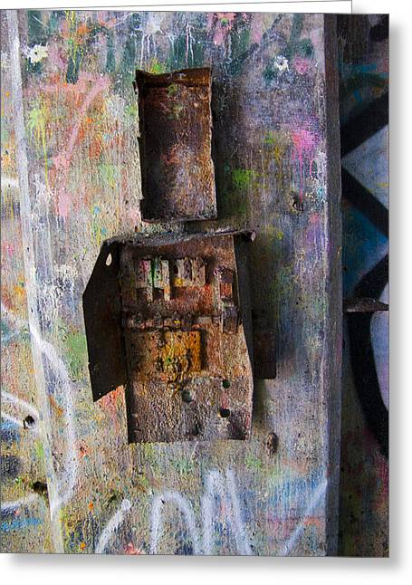 Decrepit Switch-box Greeting Card by Timothy Hedges