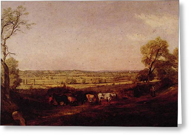Dedham Vale Morning Greeting Card by John Constable