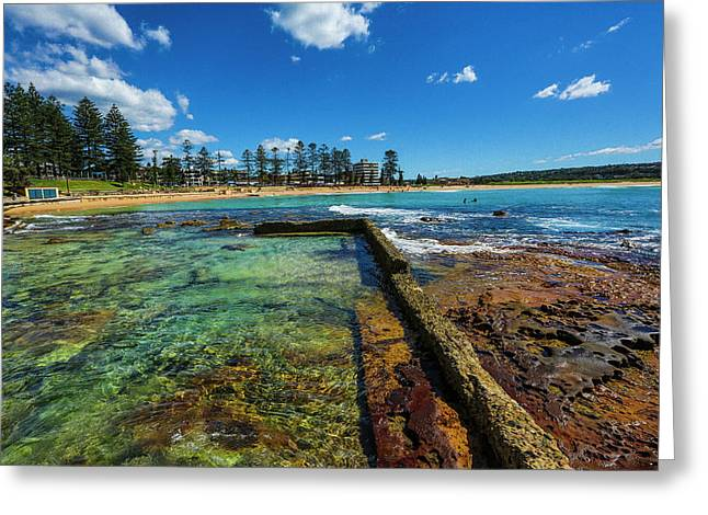 Dee Why Rock Pool Greeting Card