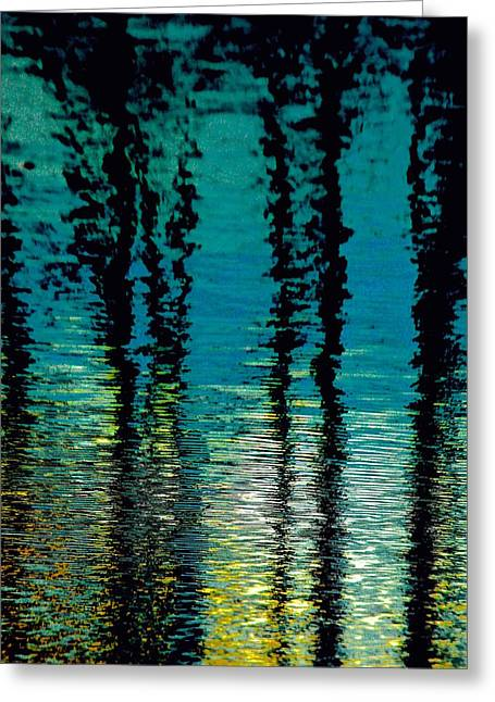 Deep Blue Greeting Card by Gillis Cone