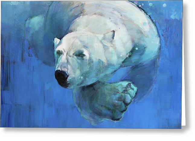 Deep Blue Greeting Card by Mark Adlington