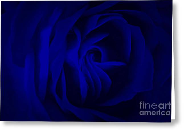 Deep Blue Passion Greeting Card by Krissy Katsimbras