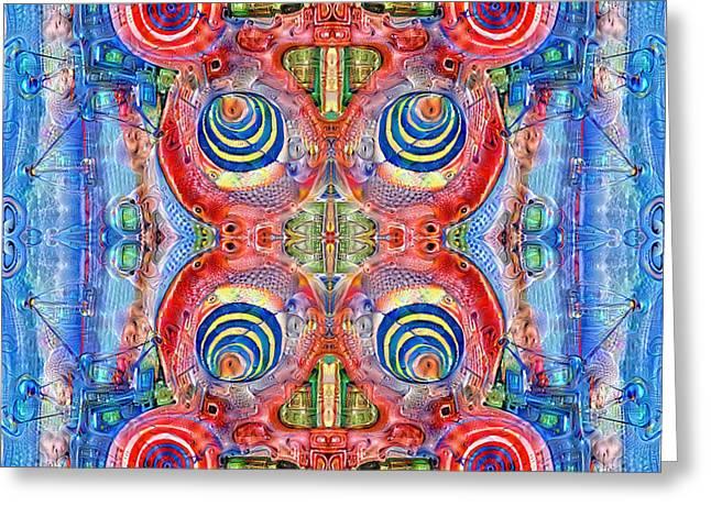 Deep Dream Tweedledee Greeting Card