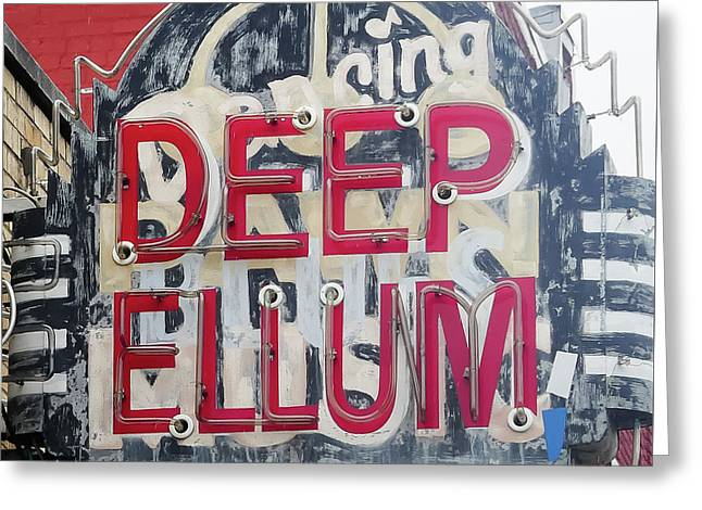 Deep Ellum Dallas Texas Greeting Card