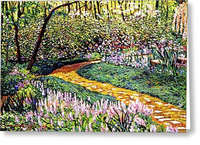 Deep Forest Garden Greeting Card by David Lloyd Glover