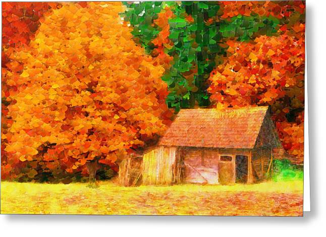 Deep In Forest - Pa Greeting Card