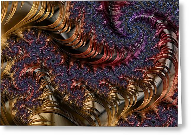 Deep In The Spirals Greeting Card