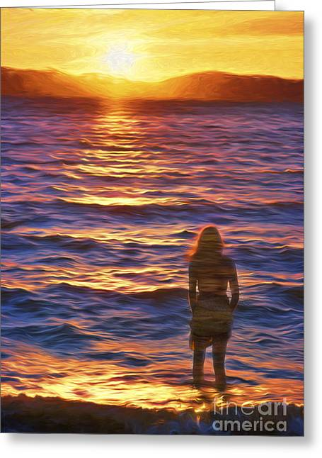 Deep In Thought Greeting Card by George Robinson