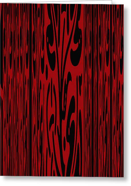 Deep Red Abstract Greeting Card by Aimee L Maher Photography and Art Visit ALMGallerydotcom